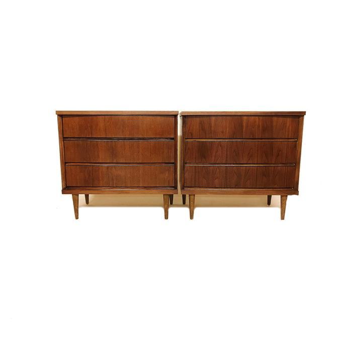 Pair Of Vintage MCM Dressers In Wood by minthome