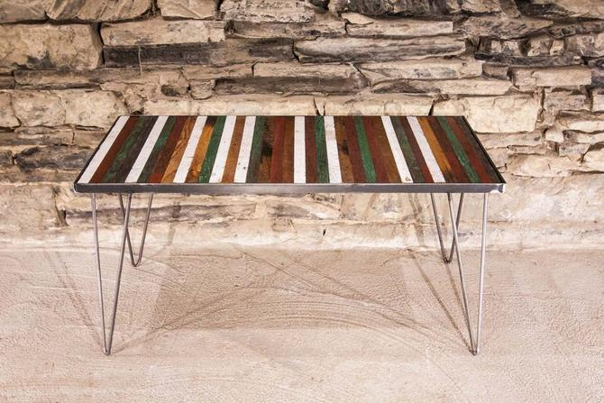 Free Shipping! Sao Paulo Coffee Table - Reclaimed Wood and Mid Century Modern Hairpin Legs by StrongOaksWoodshop