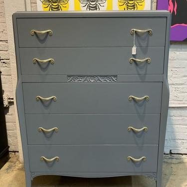 """Grey painted chest of drawers, 36"""" x 21"""" x 49"""" H"""