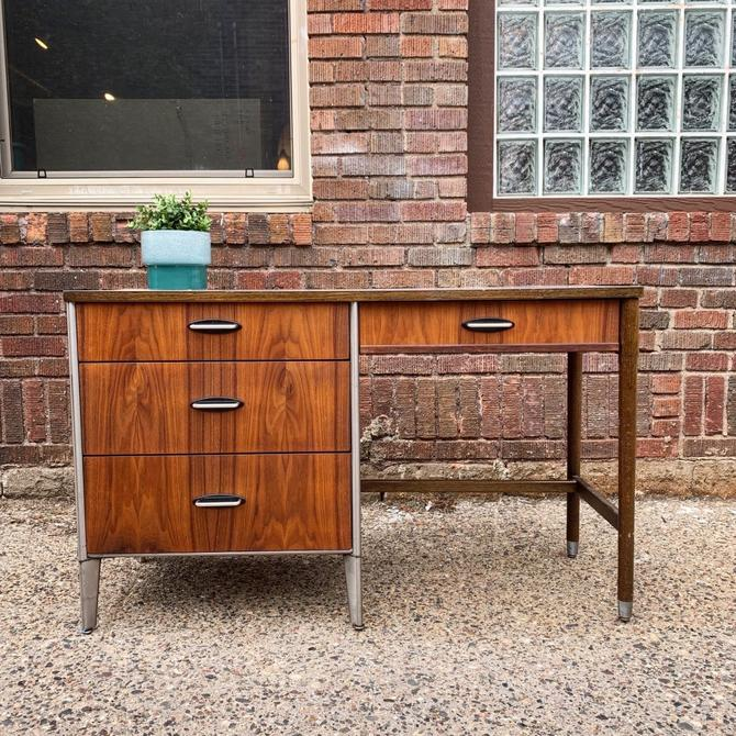 Refinished Asymmetrical Mid-Century Desk