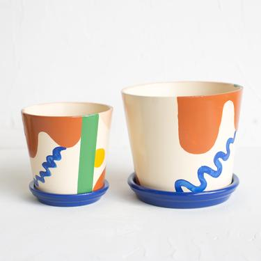 Abstract Shapes Planter
