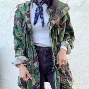 Vintage UK British Army AMF Camouflage Zip Up Jacket by CottontailTrdPost