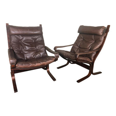 Pair Of Ingmar Relling Siesta Chair by Westnofa Norway High Back by RetroPassion21