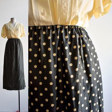 Vintage Black & White Polka Dot Skirt by milkandice