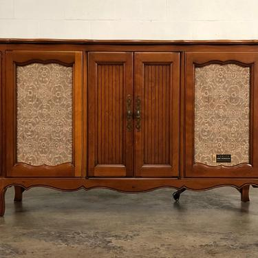 Zenith Mid-Century French Provincial Stereo Console With Sound Reverberation by modernmidcenturyfurn