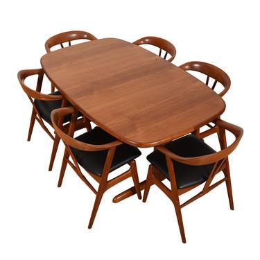 Danish Modern Teak Expanding Trestle Dining Table
