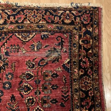 Vintage Rug 4' 1 x 6' 11 Magenta Oriental Rug by JessiesOrientalRugs