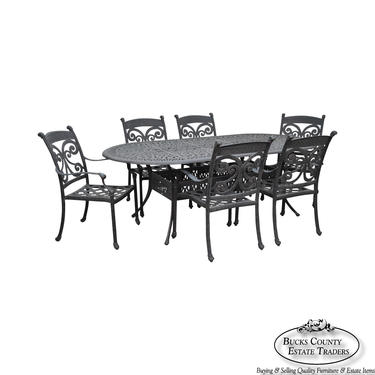 Quality Cast Aluminum Outdoor Patio Dining Table & 6 Chair Set by BucksEstateTraders