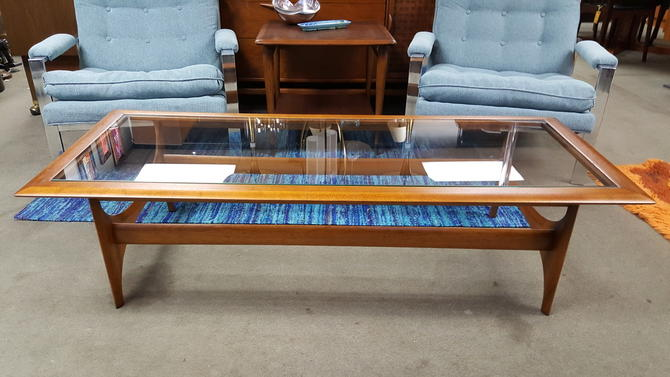 Outstanding Mid Century Modern Walnut And Glass Coffee Table In The Style Of Adrian Pearsall By Lane Home Interior And Landscaping Oversignezvosmurscom