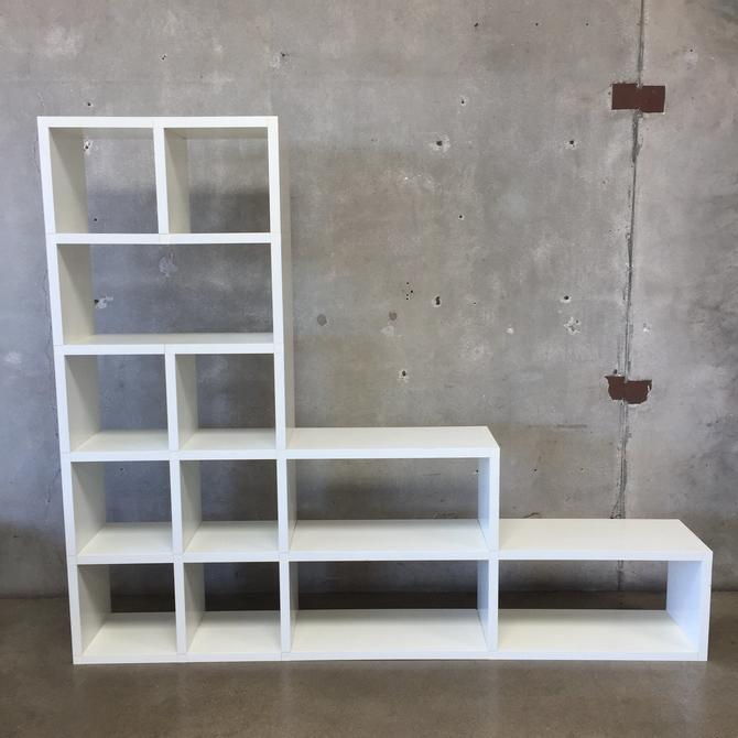 Vintage Polvara Kartell Modular Bookcase in off-white