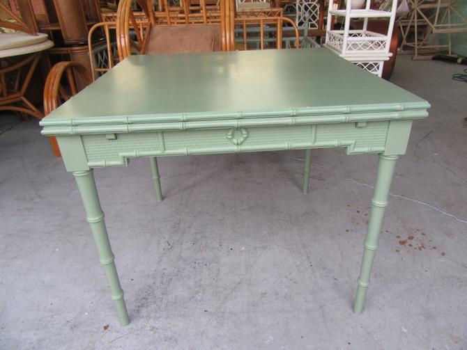 Omega Extendable Faux Bamboo Table