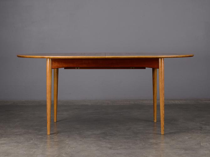 Mid Century Oval Dining Table Teak Danish Modern by MadsenModern