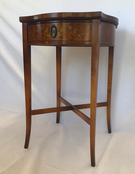 Imperial Grand Rapids Brand Mahogany Table Stand by BigWhaleConsignment