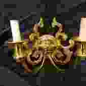2 Arm Brass Sconce. 10W x 9T x 8D.