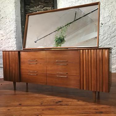 mid century dresser Lane triple dresser mid century dresser and mirror by VintaDelphia