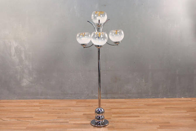 Chrome & Glass Globes Floor Lamp – ONLINE ONLY