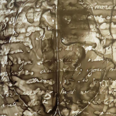 The Edge of a Dream: Original ink painting on yupo of brain - neuroscience art literature Dostoevsky by artologica