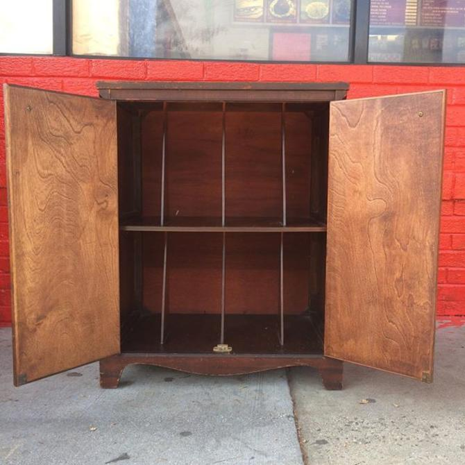 1920s vintage record cabinet.