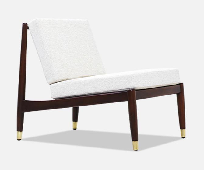 Folke Ohlsson Slipper Lounge Chair for Dux