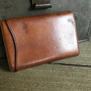 English Edwardian Leather Cigar Case, Handstiched by JansVintageStuff