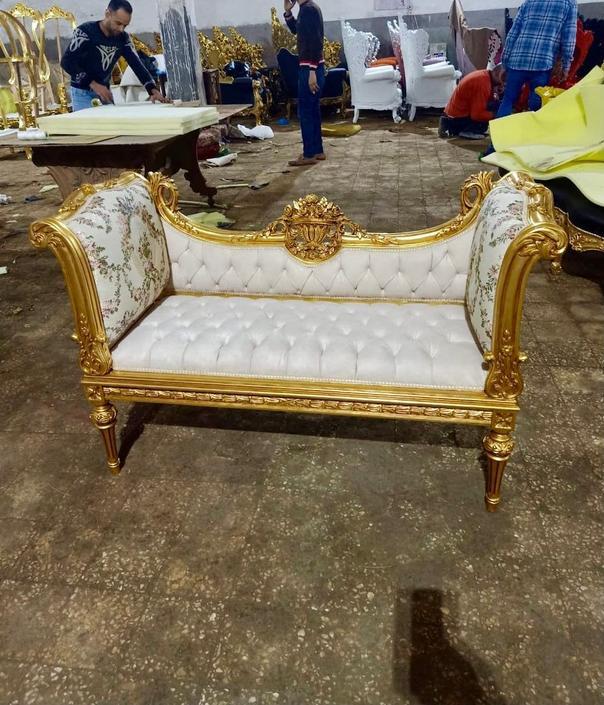 French Settee Damask Fabric Bench French Sofa Vintage Furniture Antique Baroque Furniture Rococo Interior Design Vintage Bench by SittinPrettyByMyleen