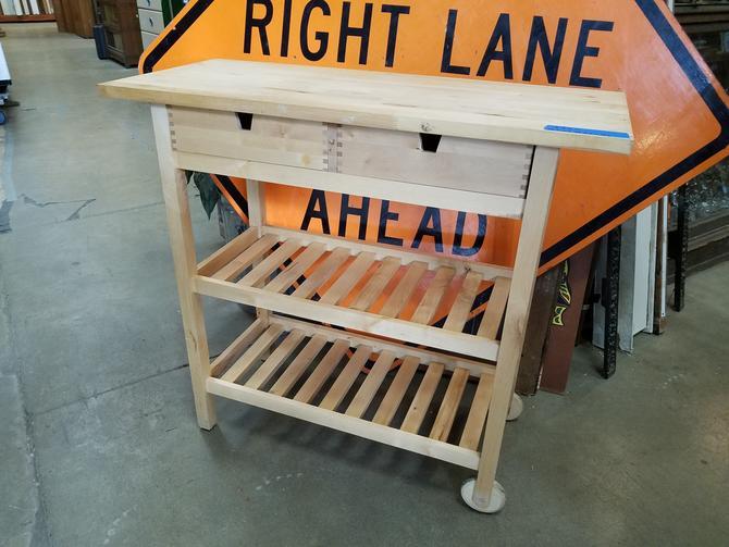 All wood IKEA Kitchen Cart 39.5 x 35.5 x 17