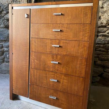 Mid century bachelors chest Danish modern chest of drawers mid century tall dresser by VintaDelphia