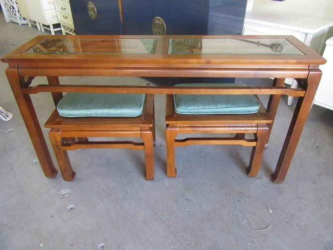 Asian Inspired Console & Benches