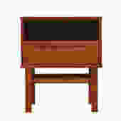 Danish MCM teak Nightstand by Niels Jonsson for Torring