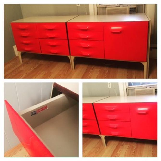 Raymond Loewy Two Piece Dresser Credenza Set