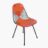 Eames Wire Chair Herman Miller Venice, Ca. Original Orange Bikini Seat Cover by HearthsideHome