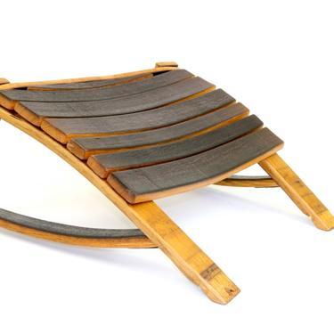 Wine Barrel Ottoman - Footrest - Barrel Furniture - Wine Barrel Footstool by HungarianWorkshop
