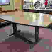 Vintage MCM Walnut drop leaf dining table