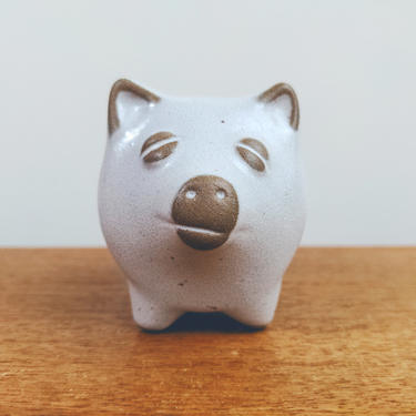 Lions Valley Stoneware | Miniature Pig Planter | David Stewart | Made in Mexico by TheFeatheredCurator
