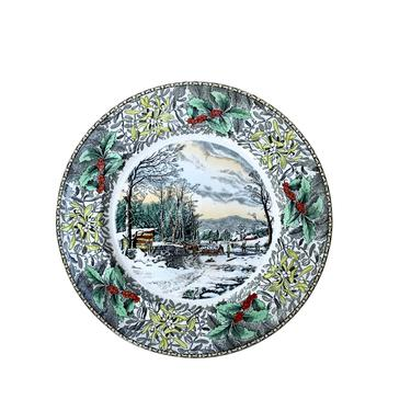 """Adams """"Winter In the Country""""  Dinner Plate by FunkyRelic"""