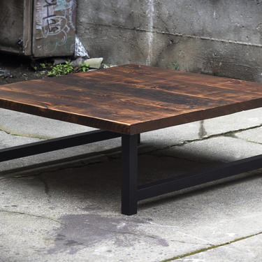 Wood and Steel Coffee Table by EvansWoodshopDesign