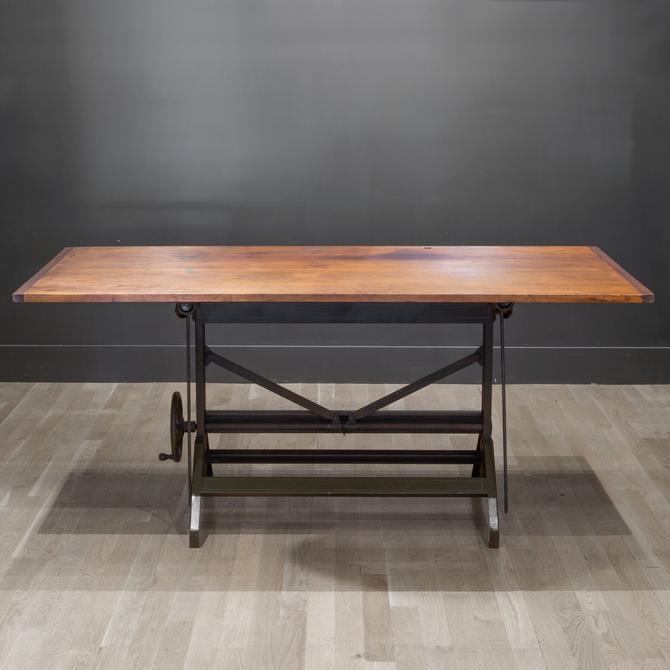 Charles Bruning Adjustable Dining/Desk Drafting Table c.1940-1950