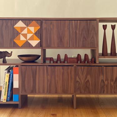 MODUL - Walnut (Set of 2) Mid Century Modern / Sideboard / Credenza / Room Divider by JellumDesign