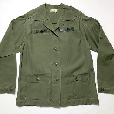 Vintage 1960s Women's OG-107 US Army Utility Shirt / Jacket ~ size S to M ~ Military Uniform ~ Ripstop Poplin ~ Vietnam War ~ Named by SparrowsAndWolves