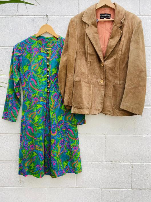 Green Psych Midi Dress
