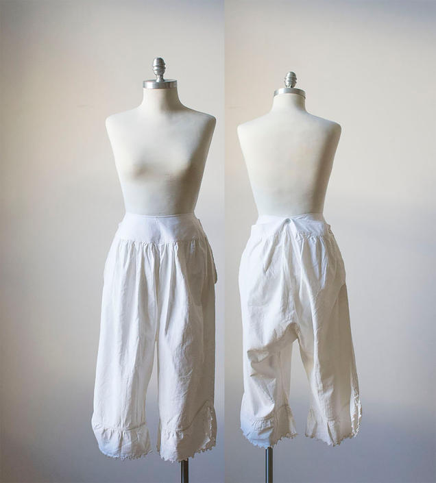 Vintage Bloomers / White Cotton Bloomers / Edwardian Bloomers / Vintage Undergarment by milkandice