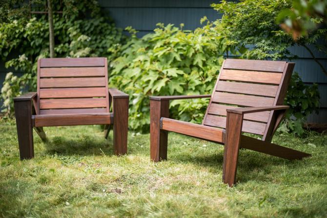 Custom Ipe Modern Adirondack Chairs by MathesonWoodwork