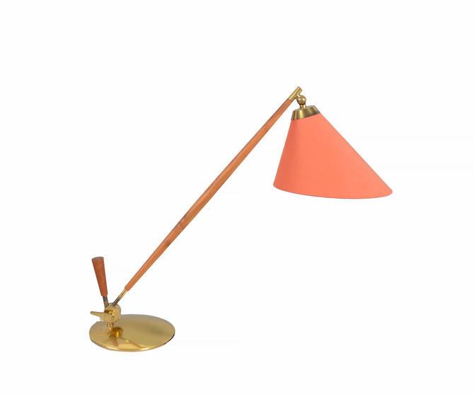 Brass Adjustable Desk or Table Lamp Model THV-375 by Povl Dinesen, Danish Modern by HearthsideHome