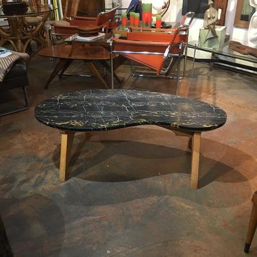 Mid Century Black Marble Coffee Table by bcdrygoods