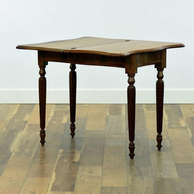American Traditional Flip Top Game Table W Fluted Legs