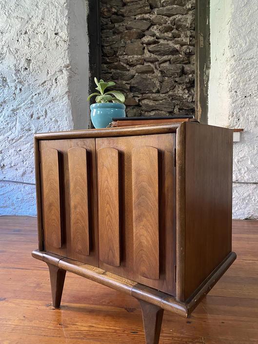 Mid century nightstand mid century side table Danish modern end table by VintaDelphia