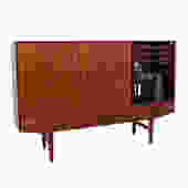 Danish Modern Teak & Rosewood Highboard / Bar Cabinet