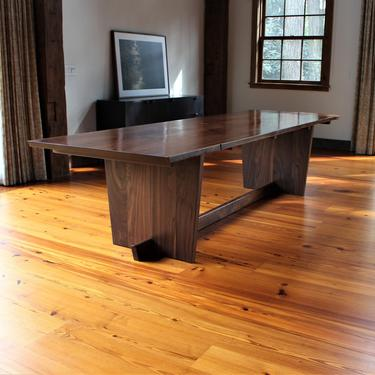 Live edge solid walnut 10 foot dining table inspired by Genorge Nakashima Minguren II by GideonWoodworker