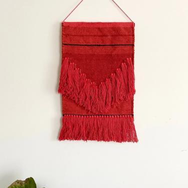 Custom wall art Scarlet Red Orange Monochromatic Tapestry  Mid Century Modern Boho Bohemian) by BluMintStudios