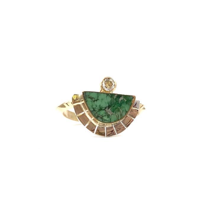 Variscite Solstice Ring